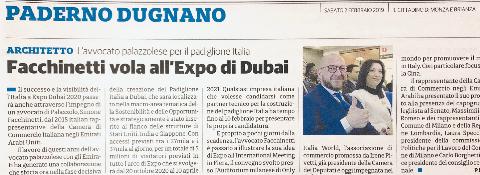 Milan, February 2, 2019. DUBAI EXPO 2020 AND ITALIAN COMPANIES