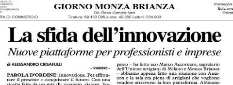 Press release: event on innovation and business, talk show on Facchinetti's terrace
