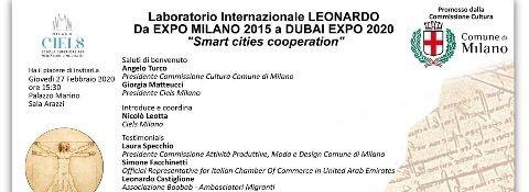 "Milan, 27th  February 2020 - At Palazzo Marino – Milan – for Leonardo's International Lab (Laboratorio Internazionale Leonardo) ""From EXPO MILAN 2015 to EXPO DUBAI 2020"" - (POSTPONED DUE TO COVID 19 EMERGENCY)"