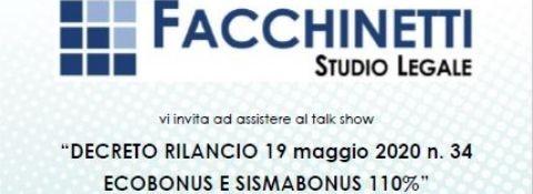 Verona 29th May Talk Show - Decreto Rilancio - Ecobonus - Sismabonus
