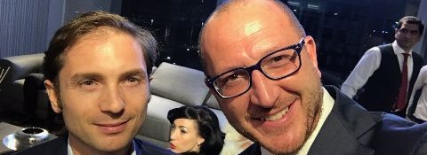 Dubai Design District: Avv. Facchinetti con Emanuel Colombini (CEO di Colombini Group) e Luca Innocentini (Sales Director at Finasi LLC - Gargash Group) all'inaugurazione dello show room del gruppo Finasi