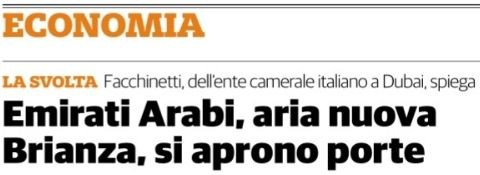 """Milano, 21 nov 2020 - Su """"Il Cittadino di Monza e Brianza"""""""