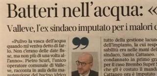 Bergamo, 17 giugno 2020 Sul Corriere della Sera e sull'Eco di Bergamo