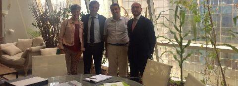 Junio 2017 – Dubai y Abu Dhabi misión de negocios con la empresa italiana líder en el campo del suelo de resina con la Doctora Aya Maria Mamedov – nuestro Gerente de desarrollo de negocios.